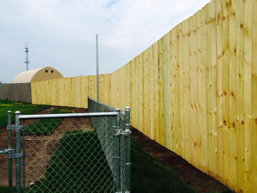 Irondequoit Town Hall – 10 foot wooden fence